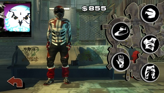 Buying upgrades to your bike helps you in-game, buying clothes does not.
