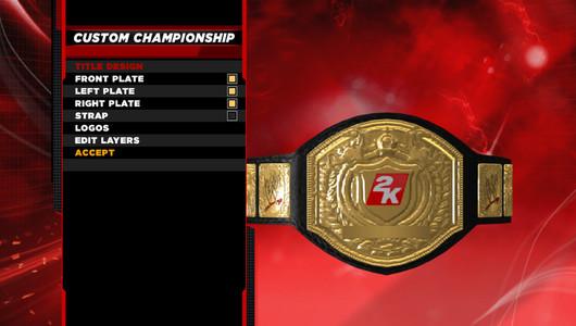 WWE 2K14 Create a Title