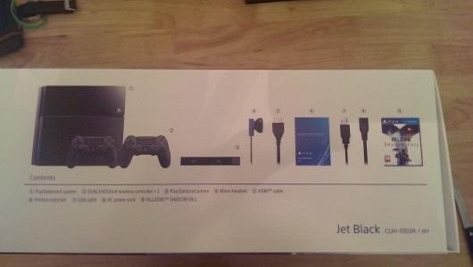 Playstation 4 box contents